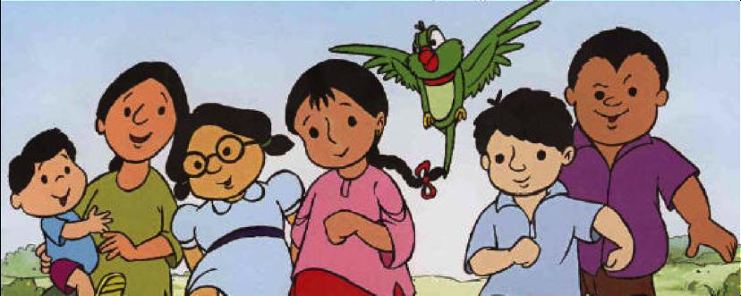 Meena, um desenho para as crianças