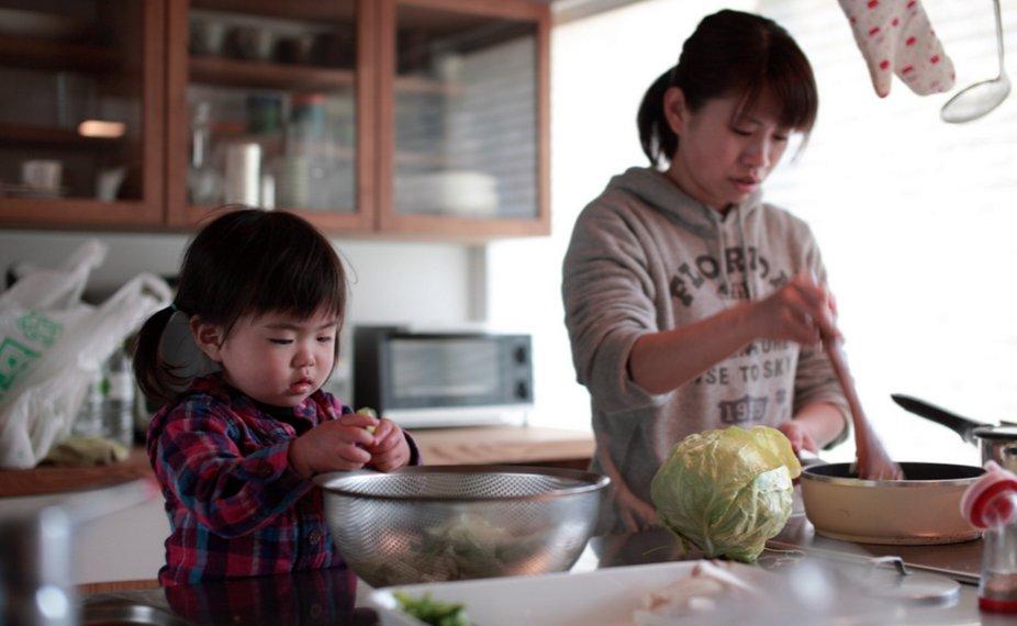 As diferentes relações das crianças com a cozinha