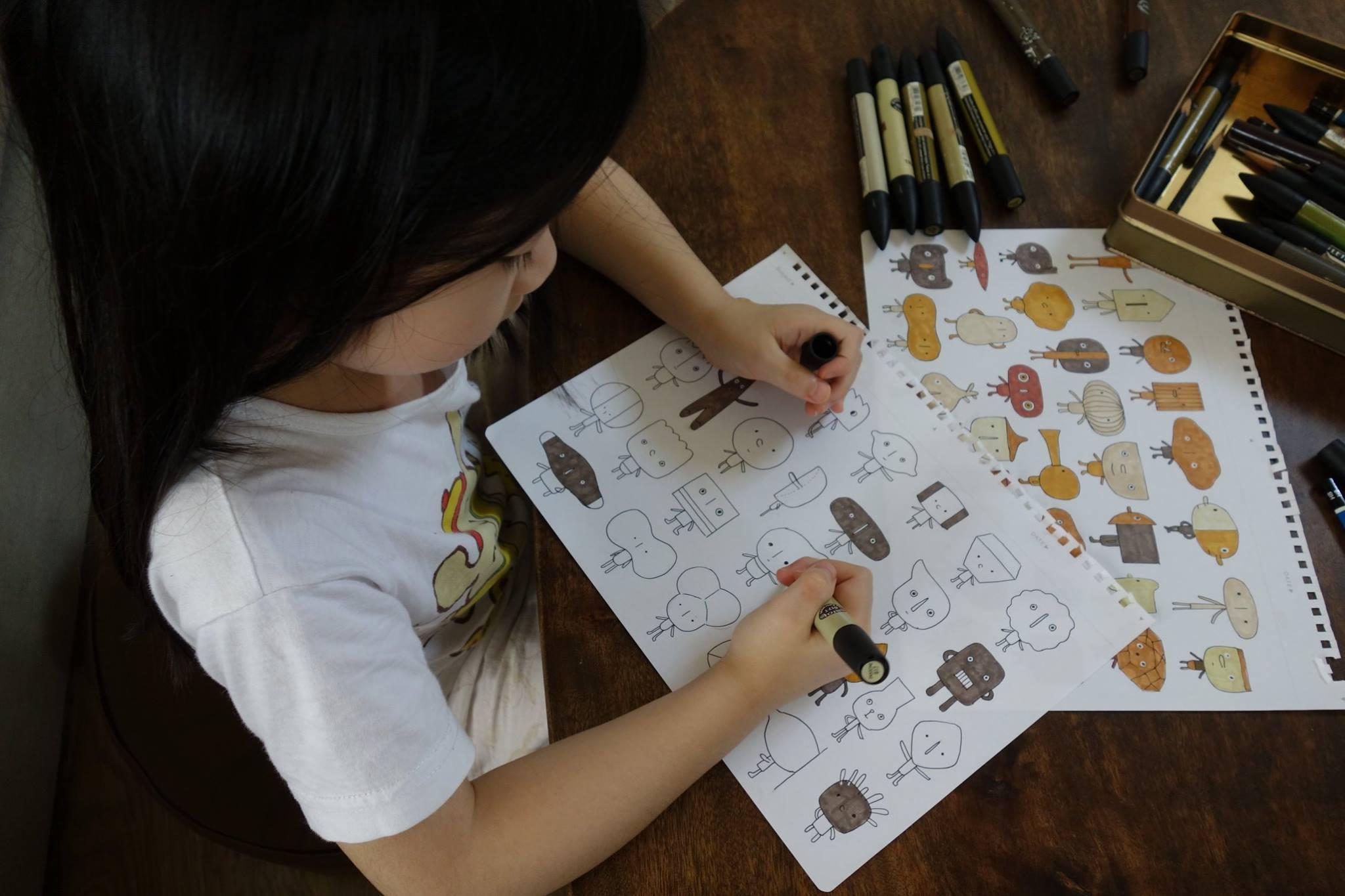 Um artista taiwanês que conta com a imaginação de seus filhos