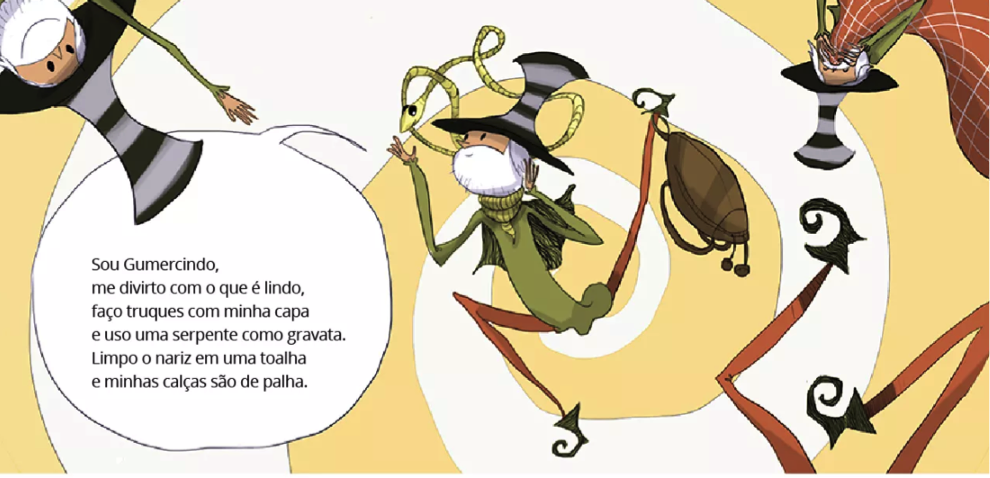 "Página interna de ""O duende Gumercindo"""